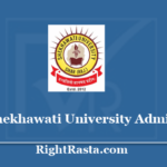 Shekhawati University Admit Card 2020 - PDUSU New Permission Letter @ univexam.com