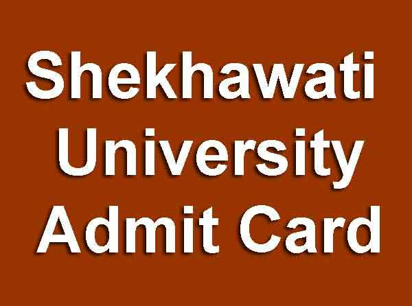 Shekhawati University Admit Card