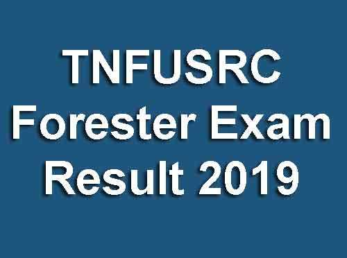 TNFUSRC Forester Exam Result 2019