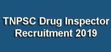 TNPSC Drug Inspector Recruitment