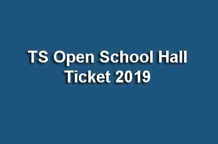 TS Open School Hall Ticket 2019