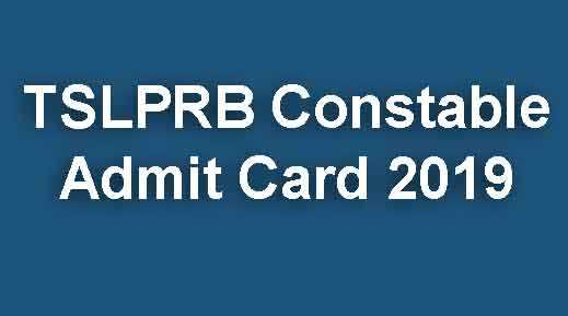 TSLPRB Constable Admit Card 2019