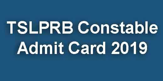 TSLPRB Constable Admit Card