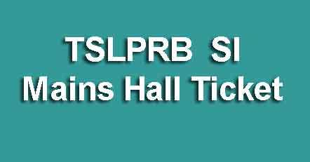 TSLPRB SI Mains Hall Ticket