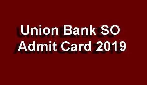 UBI SO Admit Card