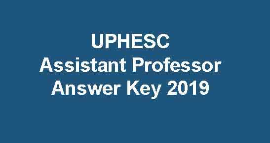 UPHESC Answer Key 2019