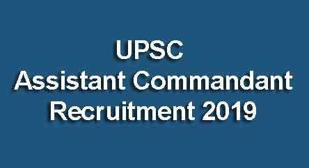 UPSC AC Recruitment