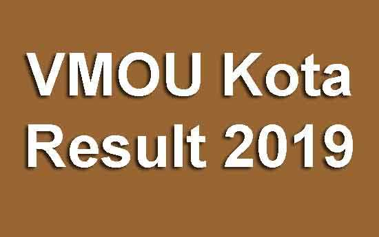 VMOU Kota Result 2019