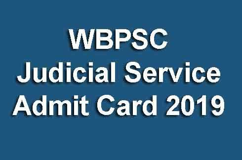 WBPSC Judicial Service Admit Card 2019