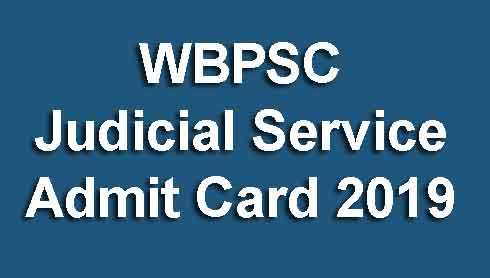 WBPSC Judicial Service Admit Card