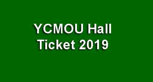 YCMOU Hall Ticket 2019