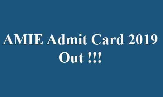 AMIE Admit Card