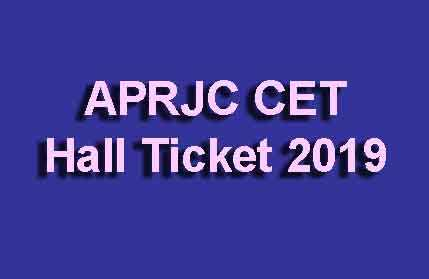APRJC CET Hall Ticket