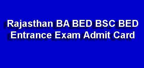 BA BED Admit Card