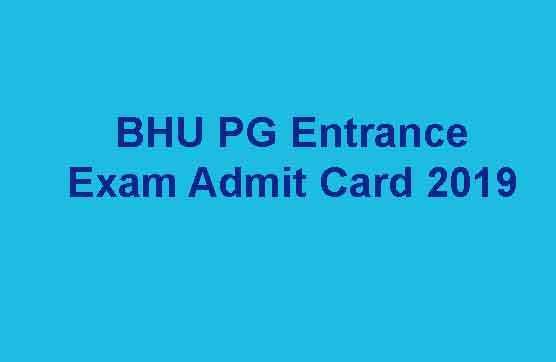 BHU PG Entrance Exam Admit Card