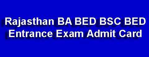 BSC BED Admit Card