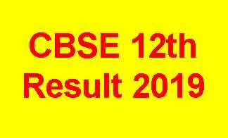 CBSE Result for Class 12th