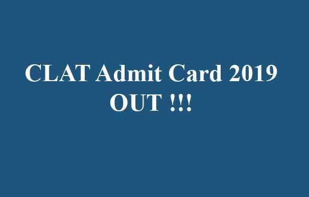 CLAT Admit Card 2019