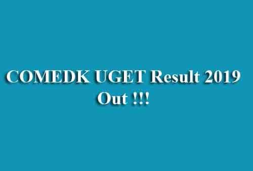 COMEDK UGET Result