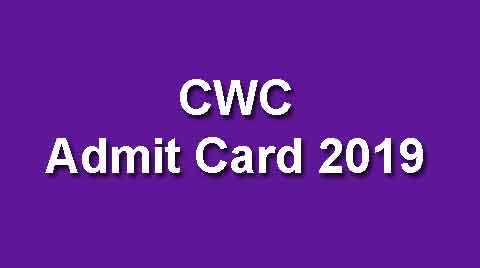 CWC Hall Ticket 2019