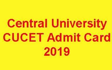Central University Admit Card