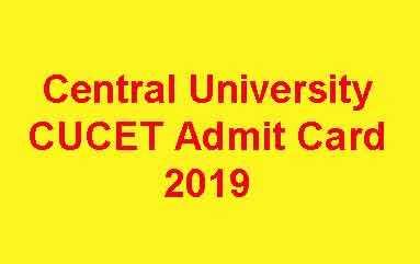 Central University CUCET Admit Card