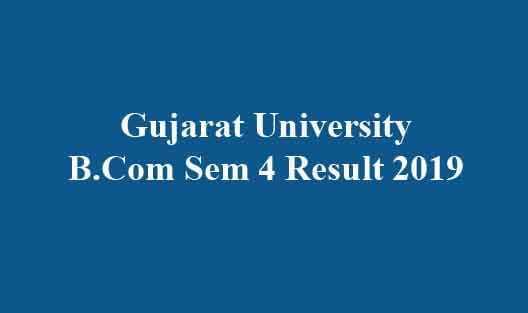 Gujarat University Result 2019
