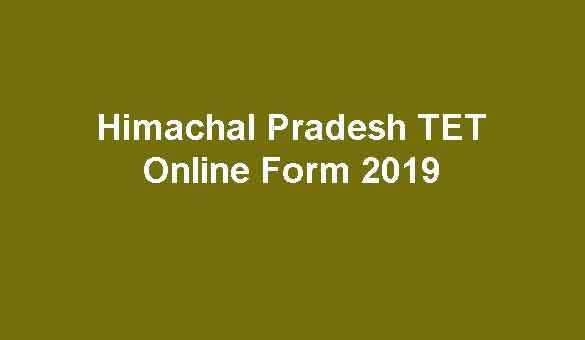 Himachal Pradesh HP TET Online Form