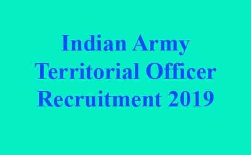 Indian Army Territorial Officer Recruitment