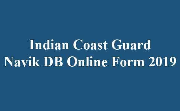 Indian Coast Guard Navik DB