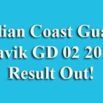 Indian Coast Guard Navik GD 02 2019 Result