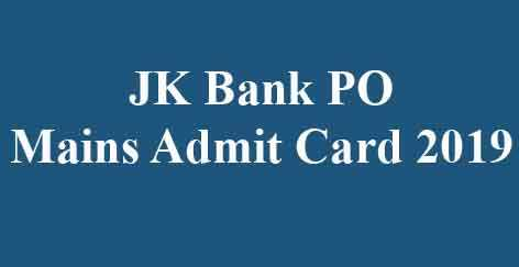 JK Bank PO Mains Call Letter