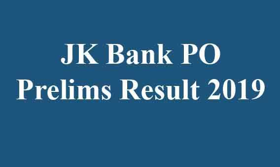 JK Bank PO Prelims Result