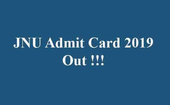 JNU Admit Card