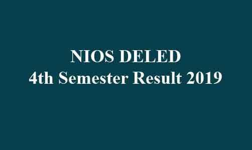 NIOS DELED 4th Semester Result