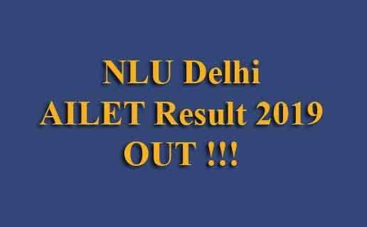 NLU Delhi AILET Result 2019