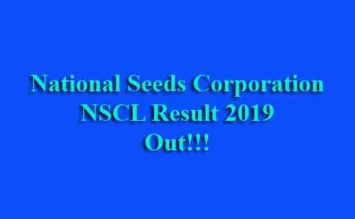 National Seeds Corporation NSCL Result