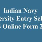 Navy UES Entry Online Form 2020