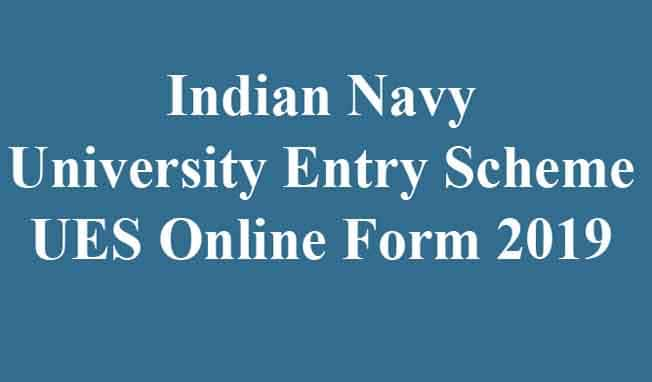 Navy University Entry Scheme UES Online Form 2020