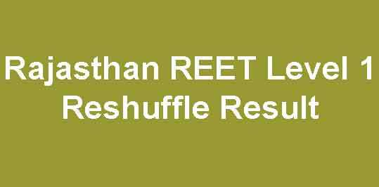 REET Level 1 Revised Result