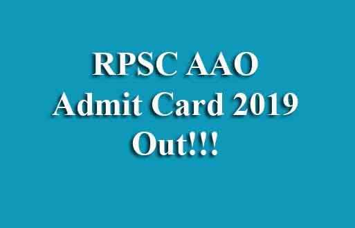 RPSC AAO Admit Card