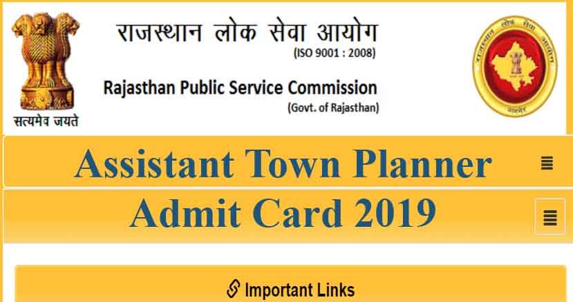 RPSC ATP Admit Card 2019
