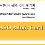 RPSC ASO Admit Card 2019