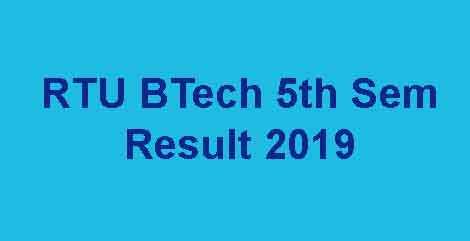 RTU 5th Sem Result