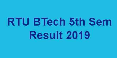 RTU 5th Semester Result