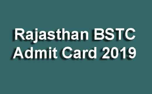 Rajasthan BSTC Admit Card