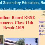 Rajasthan Board RBSE Commerce Class 12th Result 2019