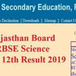 Rajasthan Board RBSE Science Class 12th Result 2019