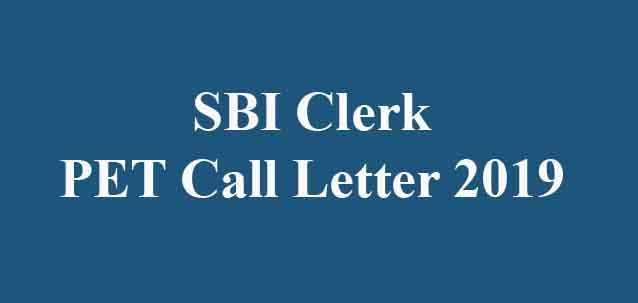 SBI Clerk PET Admit Card