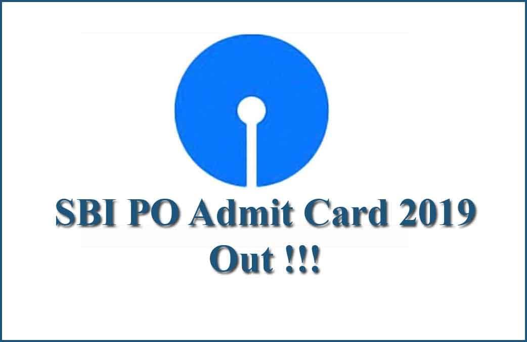 SBI PO Admit Card 2019